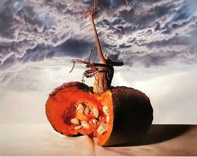 Tempesta in arrivo, pittura iperrealista, paolo tagliaferro